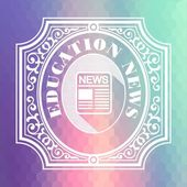 Education News. Pastels Hexagonal Background. — Stock Photo