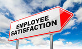 Employee Satisfaction on Red Road Sign. — Stock Photo