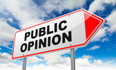 Public Opinion on Red Road Sign. — Stock Photo
