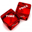 Two red dice — Stock Photo #6766843