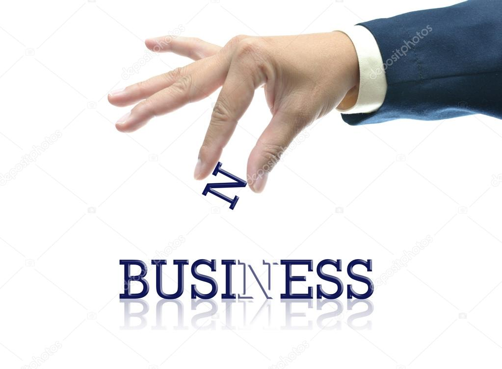 Art work of business hand with the word. — Stock Photo #13480785