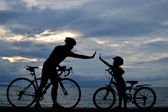 Biker-familie — Stockfoto