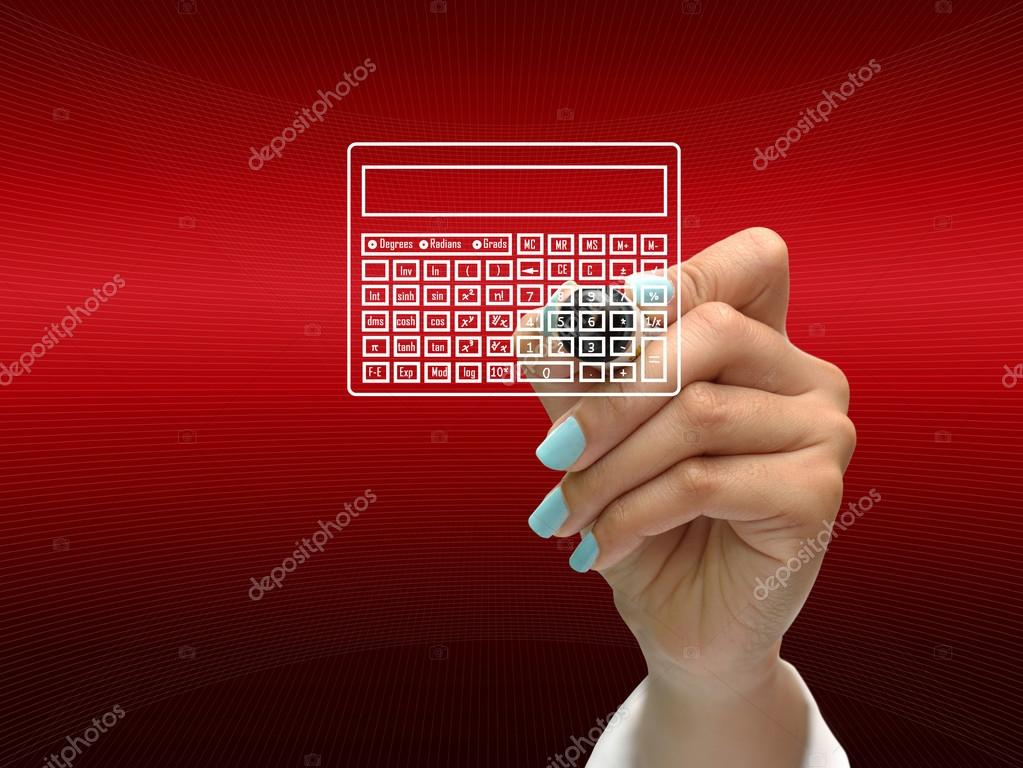 Business hand writing business icon on red abstract background. — Stock Photo #14042542