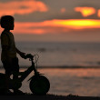 Bike silhouette — Stockfoto