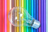 Color pencil background — Stock Photo