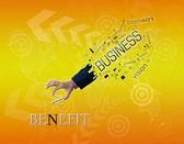 Business hand — Stock Photo