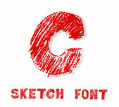 Sketch font — Stock Photo