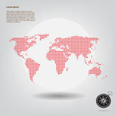 Mapa světa — Stock fotografie