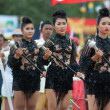 Unidentified Thai students in ceremony during sport parade — Stock Photo #28953879