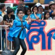 Unidentified Thai students in ceremony during sport parade — Stock Photo #28954817