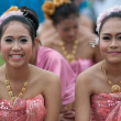 Unidentified Thai students in ceremony during sport parade — Stock Photo #28978125