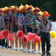 Unidentified Thai students in ceremony during sport parade — Stock Photo #28986863
