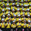 Unidentified Thai students in ceremony during sport parade — Stock Photo #28999353