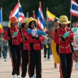 Unidentified Thai students in ceremony during sport parade — Stock Photo #29005289