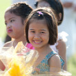 Unidentified Thai students in ceremony during sport parade — Stockfoto