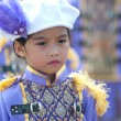 Unidentified Thai students in ceremony during sport parade — Foto Stock