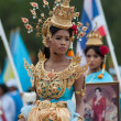 Unidentified Thai students in ceremony uniform during sport parade — Stock Photo #29023203