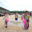 Unidentified Thai students in ceremony  during sport parade — Foto de Stock