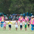 Unidentified Thai students during sport parade. — Stock Photo