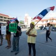 Stock Photo: KOSAMUI,THAILAND-NOVEMBER 11 : Unidentified demonstrators from anti- government group