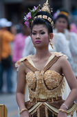 Traditional of buddhist festival - Ngan duan sib — Foto Stock