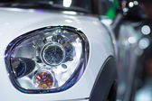 Headlight of Mini cooper — Stock Photo