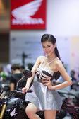 Model at Motor Show — Stock Photo