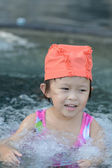 Asian girl in swimming suit — Stock Photo