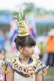 泰国学生在体育游行 2014 — 图库照片