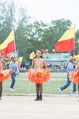 Étudiants thaïlandais pendant le défilé de sport 2014 — Photo