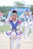 Kinderen tijdens sport parade — Stockfoto