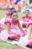 Kids during sport parade — Stock Photo