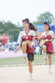 Kids during sport parade — Stockfoto