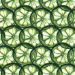 Green limes slices watercolor tiled background — Stock Photo