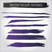Set of vector straight ink pen strokes — Stock Vector