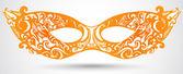 Carnival mask illustration. Vector design element for invitation — Stock Vector
