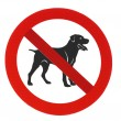 Stock Photo: No dogs allowed