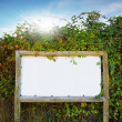White board sign - Foto Stock