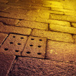 Wet Old Pavement - Stock Photo