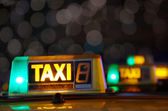 Taxi signs — Stock Photo