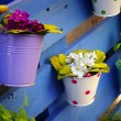 Stock Photo: Flower Baskets