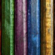 Colorful poles — Stock Photo