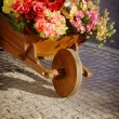 Stock Photo: Flower Handcart