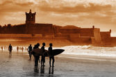 Carcavelos Surfers — Stock Photo