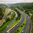 Roads Top View — Stock Photo