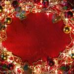 Boże Narodzenie światła ramki — Zdjęcie stockowe