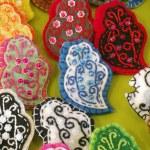 Handicraft Hearts — Stock Photo