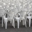 Stock Photo: Rows of Chairs