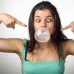 Chewing Gum Girl — Stock Photo #46953941