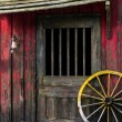 Western house with wheel — Stock Photo